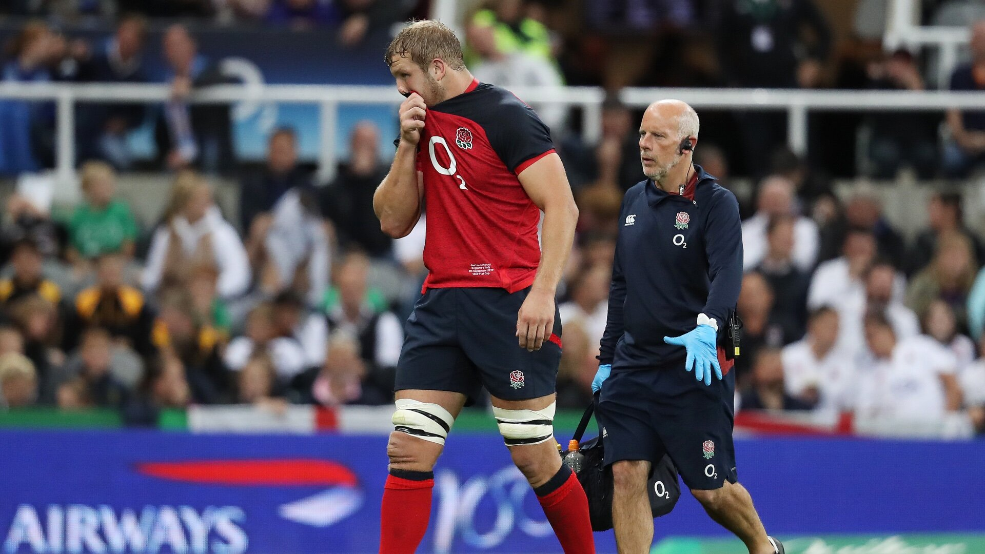 England provide an update on Joe Launchbury's fitness after Friday's night scare