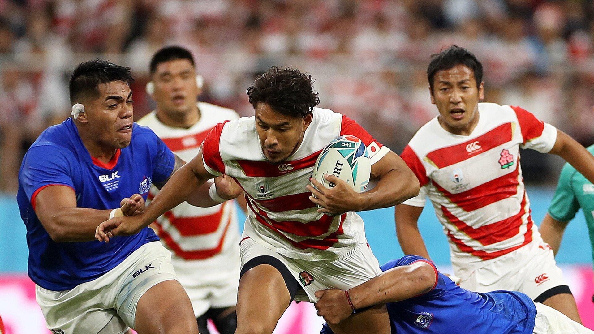 Japan leave it late to claim bonus-point win against Samoa