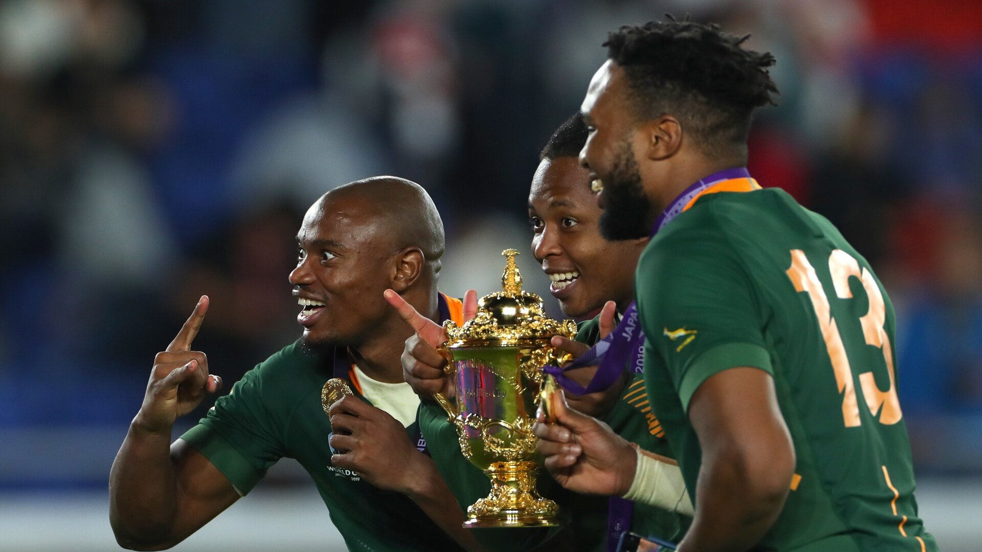 Cup-winning Boks busy saluting front line healthcare workers