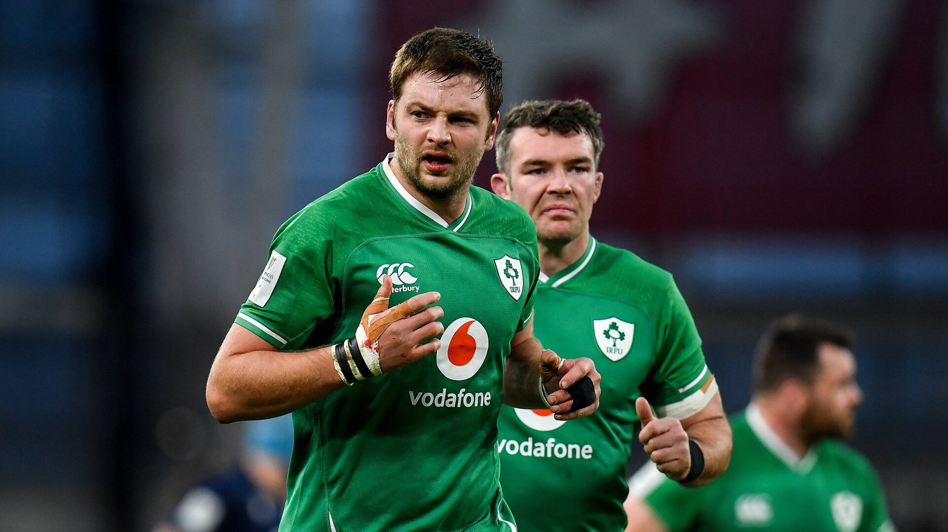 Iain Henderson is an injury doubt for Ireland's Six Nations campaign restart