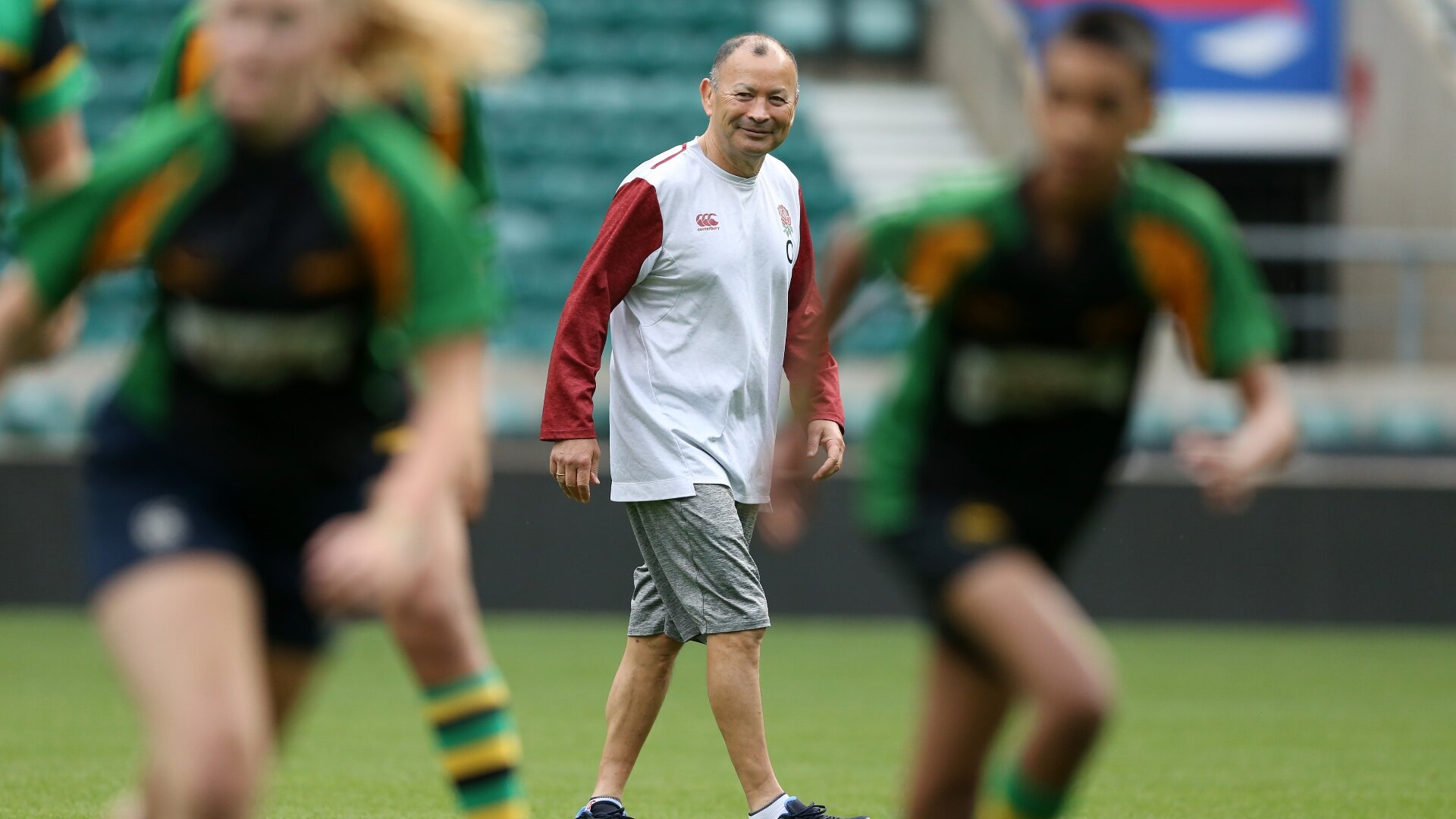 Jones and his England staff shake off 6-month Test cobwebs... by coaching a Championship club