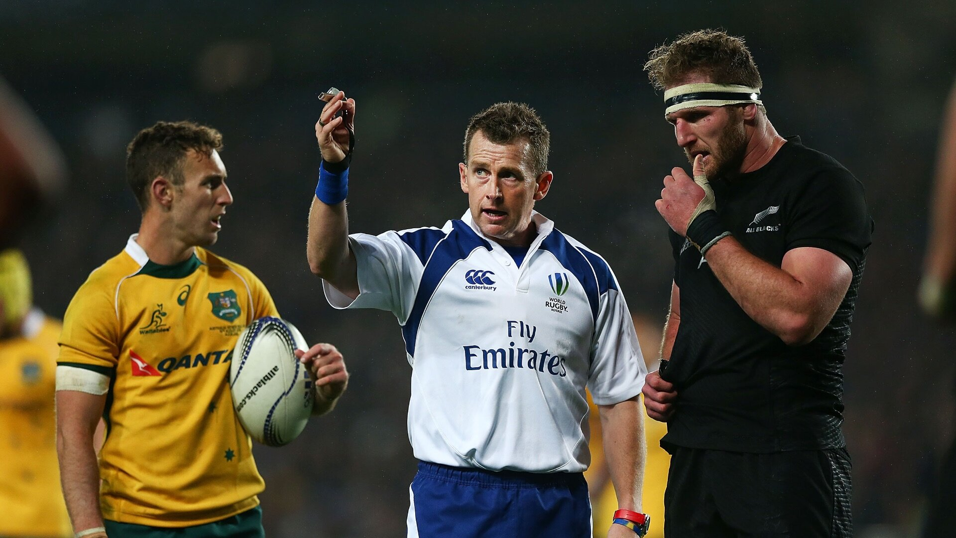 Non-neutral referees for Bledisloe Cup; Nigel Owens and Joy Neville make Test history