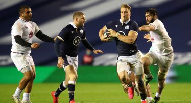 What Finn Russell told Scotland's new wing giant moments before his debut try
