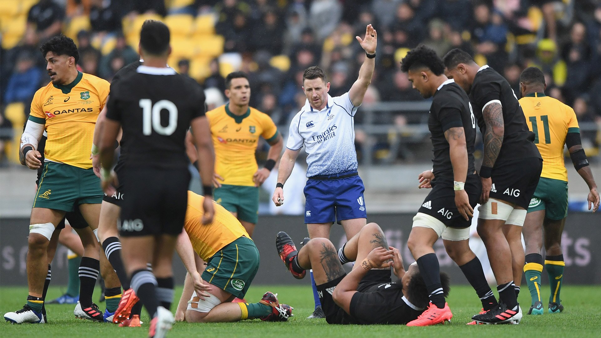 'One of the bigger talking moments were some of the late hits, off-the-ball incidents and that': All Blacks coaches unhappy with Australian aggression