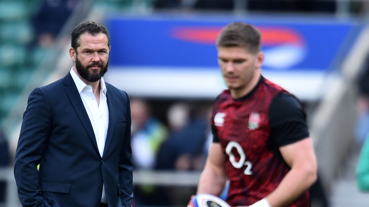Four answers, no insight... how England skipper Owen Farrell kept mention of Ireland dad Andy under wraps ahead of Saturday's reunion