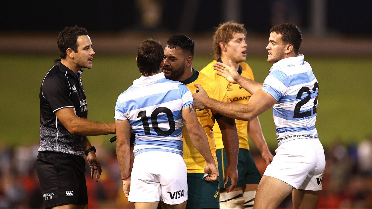 Wallabies accused of 'taking the bait' by responding to Pumas 'dirty little tricks'